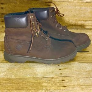 Timberland Size 8W Ankle Boots Brown Leather
